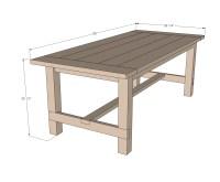 Ana White | Farmhouse Table - Updated Pocket Hole Plans ...