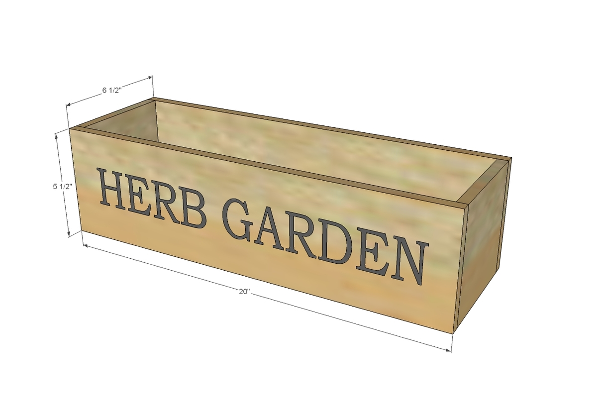 Ana White Herb Garden Planter 2 Diy Projects