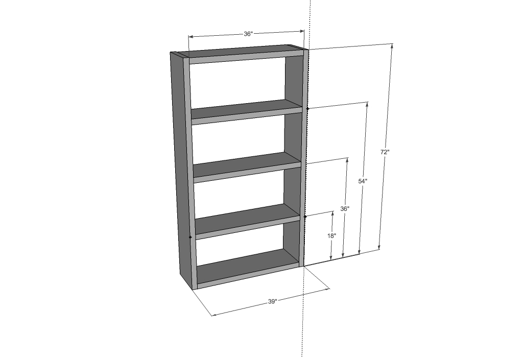 Ana White Ikea Lack Inspired Bookcase Diy Projects