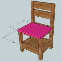 Ana White | Childrens Storage Chair - DIY Projects