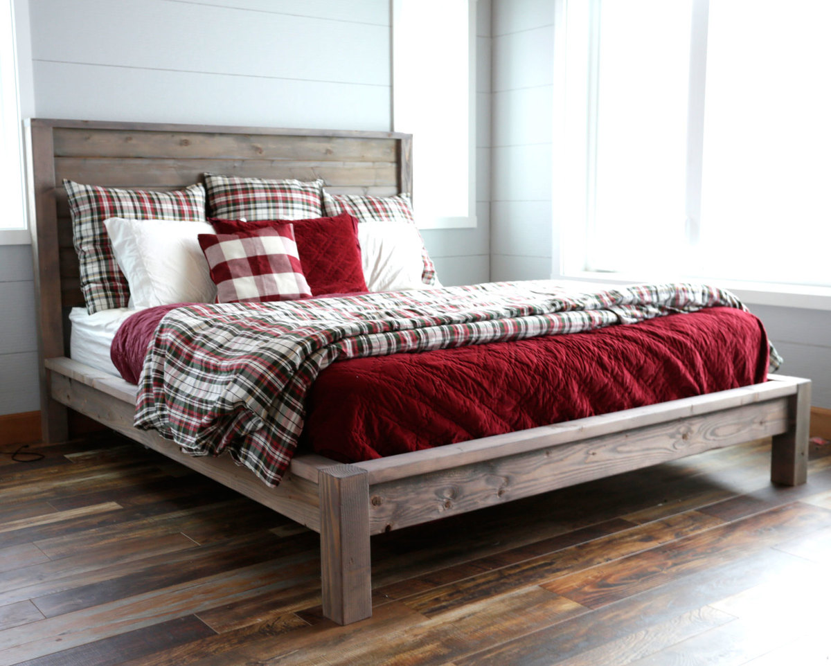 Ana White Modern Farmhouse Bed Diy Projects