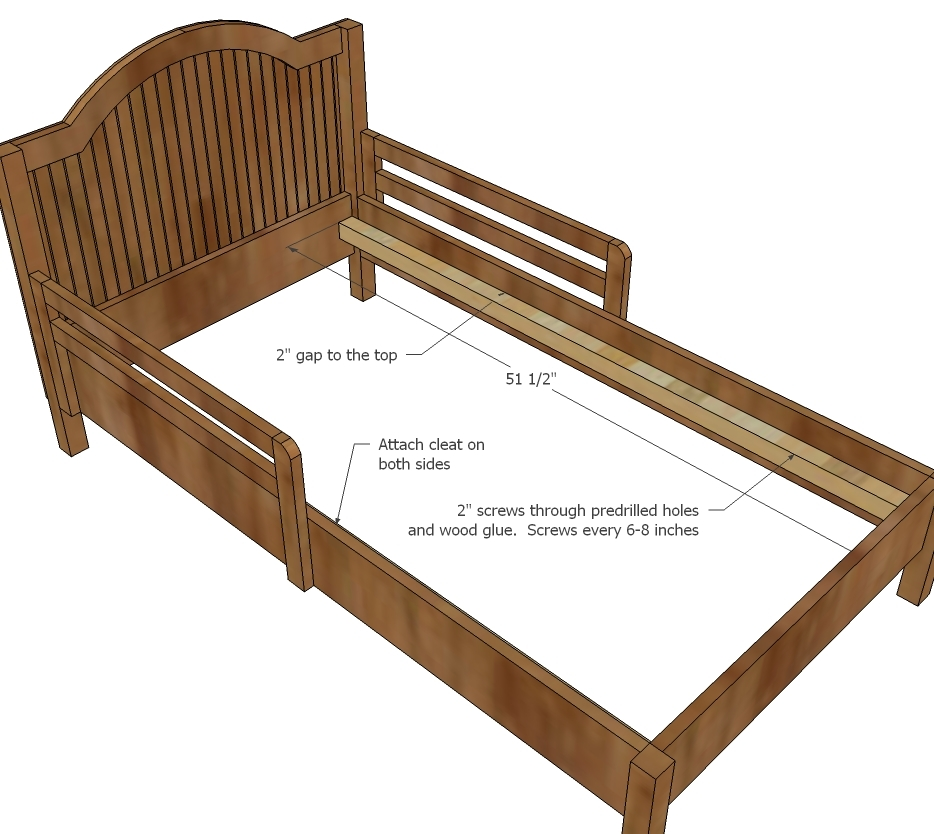 Pottery Barn Toddler Bed Ana White | Traditional Wood Toddler Bed - DIY Projects
