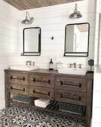 Ana White | Rustic Farmhouse Double Bath Vanity with ...