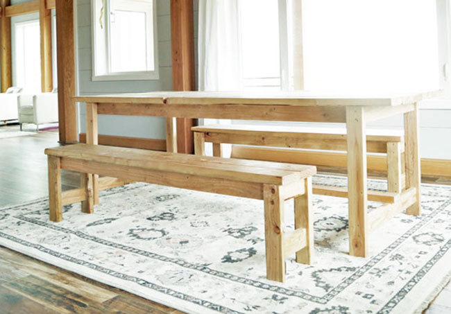 Ana White Beginner Farm Table Benches 2 Tools 20 In