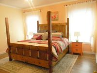 Ana White | Slatted Four Post Farmhouse Bed - KING - DIY ...