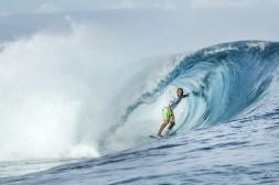 El surfista Jadson Andre Brasil ganando la primera ronda en el Fiji Pro en Cloudbreak el 5 de junio de 2016 / Foto: WSL/ Cestari