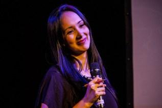Marisela Castillo, periodista de analitica.com, condujo parte del foro