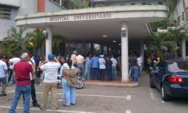 Hieren a vocero sindical durante protesta en el Universitario
