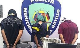PoliHatillo frustra robo en El Arroyo y captura a tres delincuentes