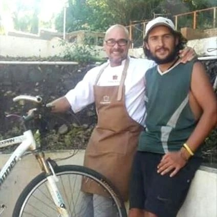 Junto al chef Sumito Estevez, en su restaurant en la Isla de Margarita ¡En el caribe!