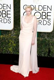 Gwendoline Christie en la gala de los Golden Globes 2016