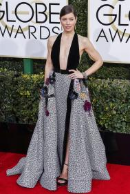 Jessica Biel en la ceremonia de los Golden Globes 2017