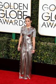Ruth Negga en la gala de los Golden Globes 2016