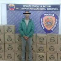 Arrestaron a un hombre que guardaba 40 cajas CLAP