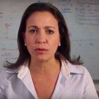 "María Corina Machado: ""Con o sin constituyente Maduro se va"""