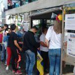 Venezolanos en Bogotá participan en la Consulta Popular/ Foto: Franchesca Valeriani