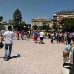 Venezolanos presentes en la consulta popular realizada en Plaza de Colón, de Madrid/ Foto: Jessica Cantón