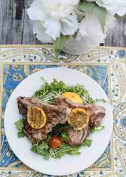 Stylish Arugula Salad An Alli Event Veal Chop Recipes Oven Veal Chop Recipes Bone In Arugula Salad Springdinner Grilled Rosemary Veal Chops Pan Grilled Rosemary Veal Chops