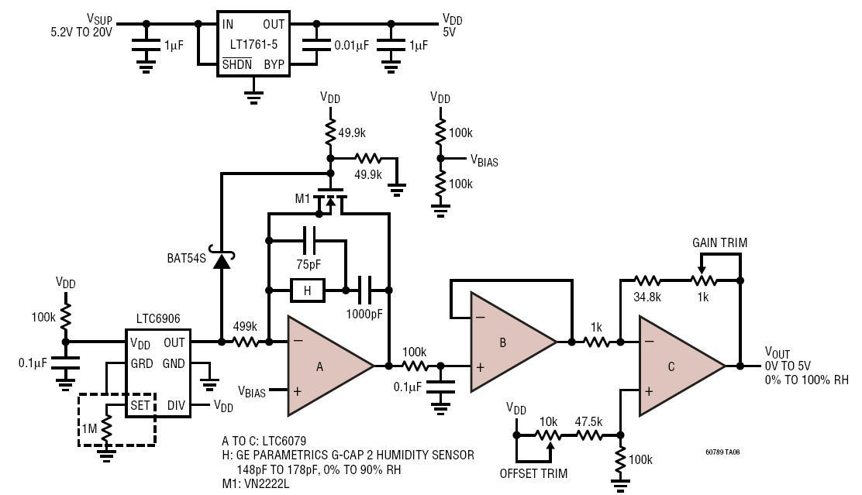 relative humidity sensor circuit diagram tradeoficcom