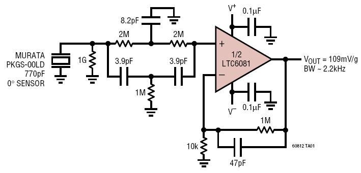 shock sensor amplifier accelerometer
