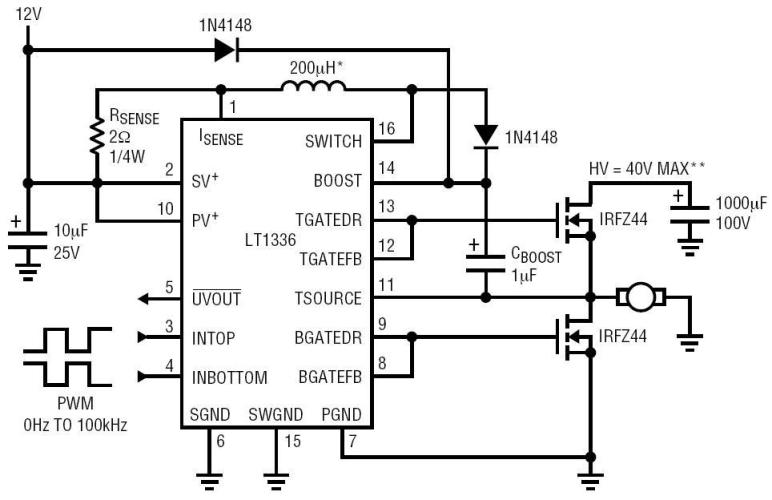 3 phase stepper motor driver circuit