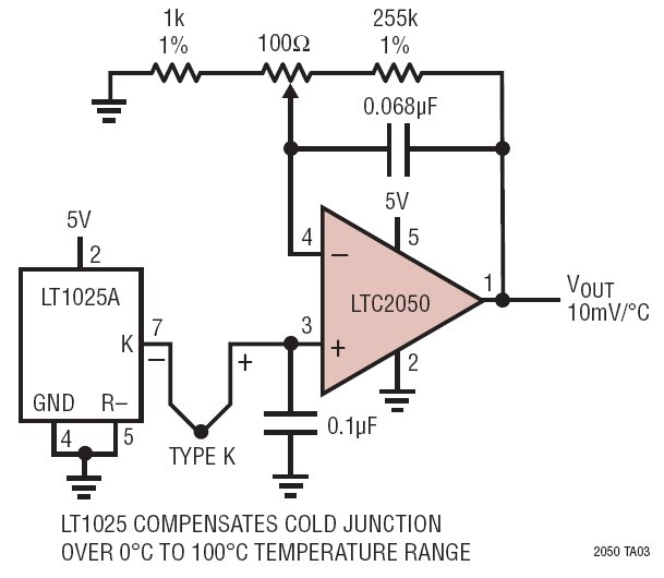 k type thermocouple circuit diagram