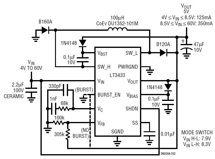 figure circuit second is the 5v to 12vdc stepup converter circuit