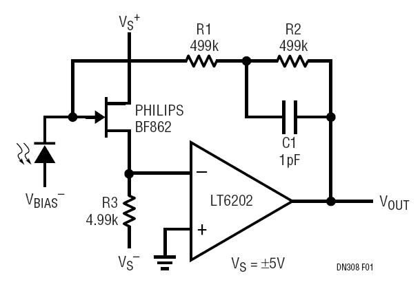 solutions low noise low power photodiode amplifier