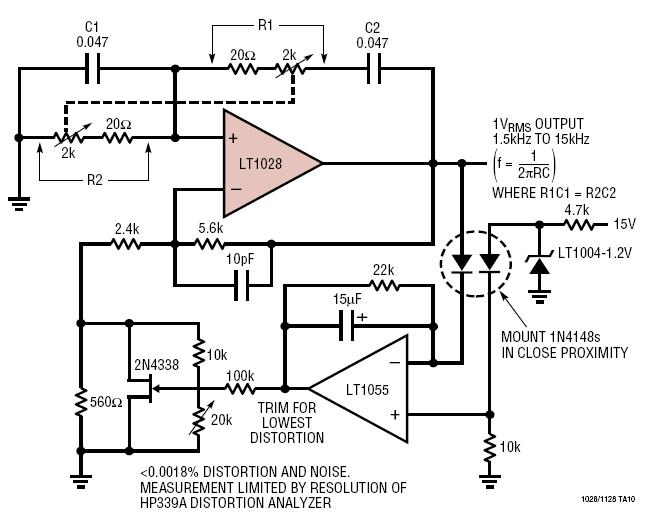 circuit three phase sine wave analog generator or oscillator