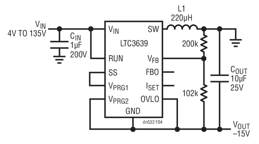 15v 300ma synchronous buck converters