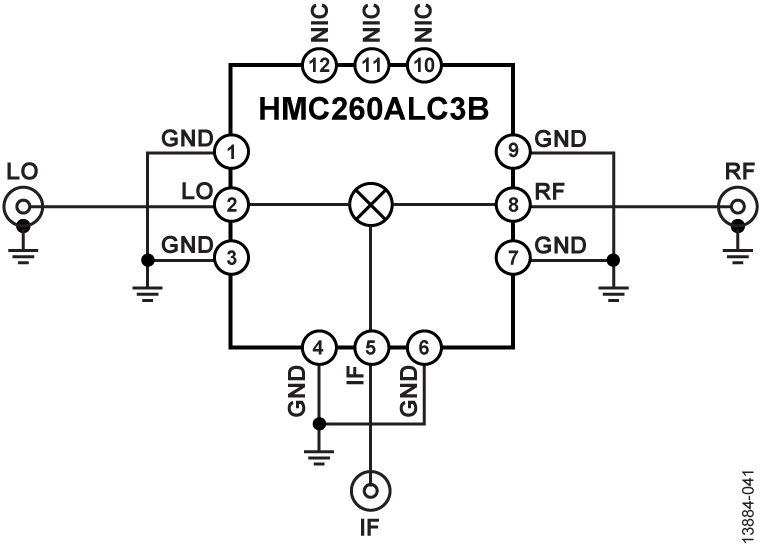 integrated circuit typical application circuit diagram ic top view