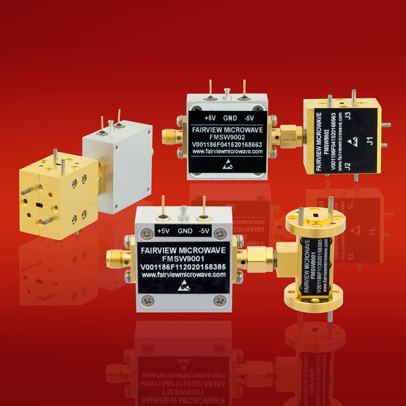 Fairview Microwave offers new E and W-Band PIN diode waveguide switches