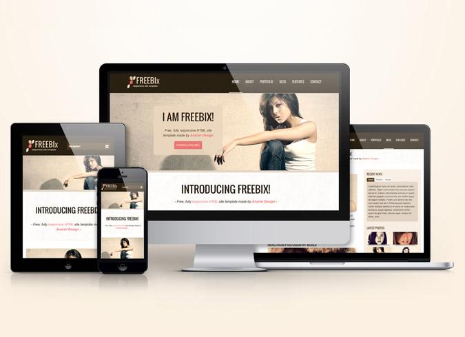 Freebix - Free Responsive HTML Template Anariel Design