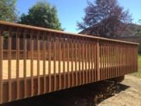 Wood Railing Spindles Deck. decks com deck railing ideas ...