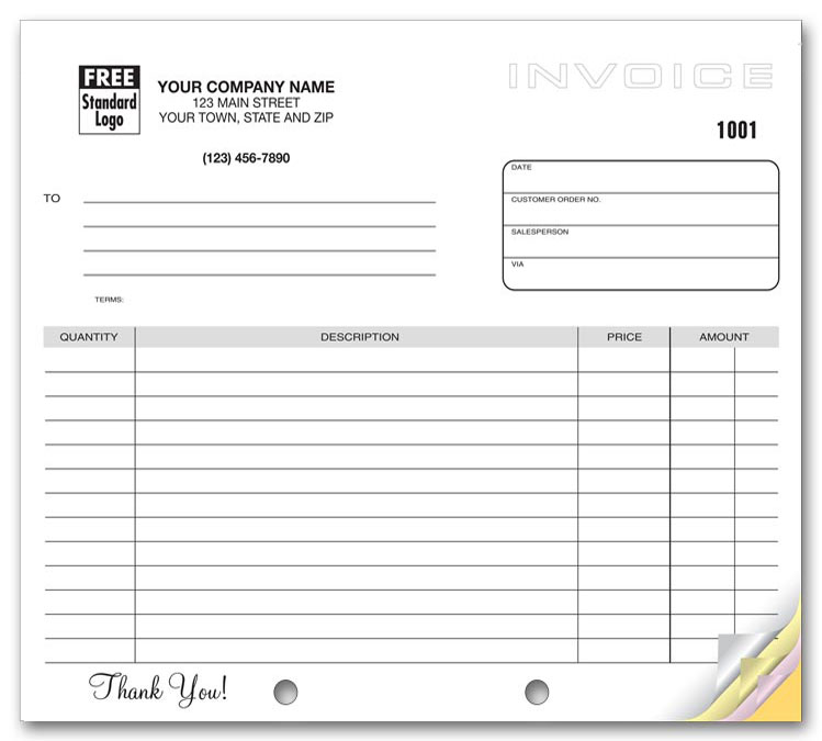 Custom Quote for Generic Multiple Use Invoice 85 x 11 - generic invoice