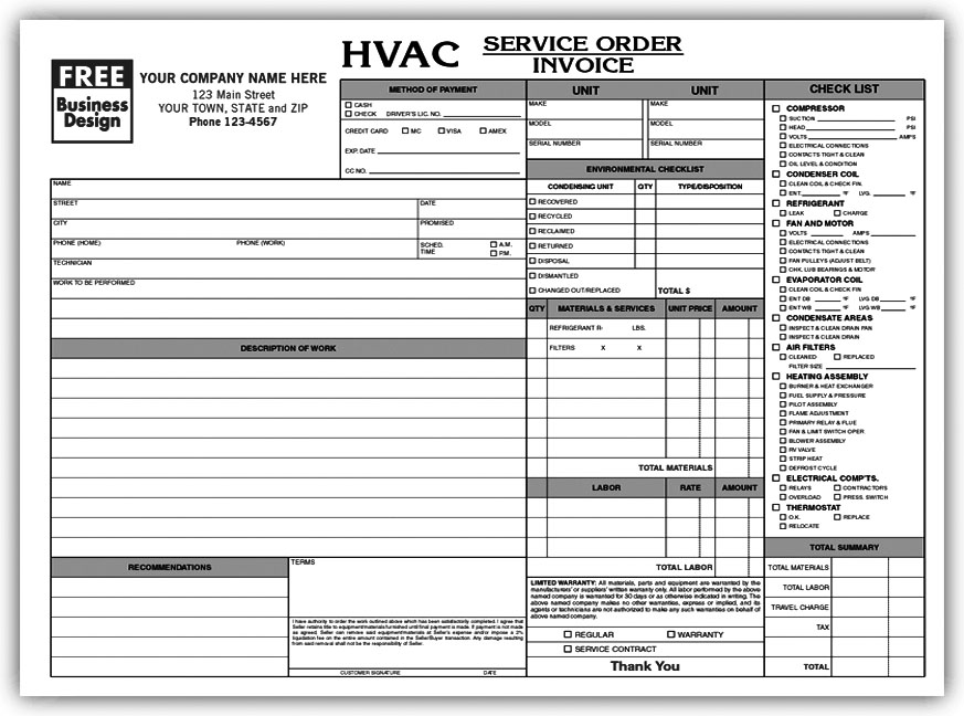 Carbonless Forms, Carbonless Duplicate Forms, Carbonless NCR Forms - company forms templates