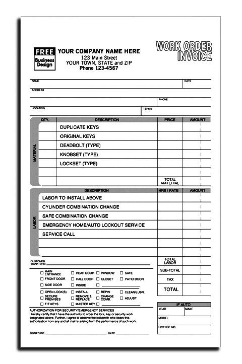 HVAC Contractor Invoice Form Custom Form Printing DesignsnPrint