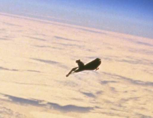 The Black Knight Satellite, close-up image. {focus_keyword} The Black Knight, A 13000 Year Old Alien Satellite? CloseupBlackKnight