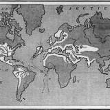 A map showing the supposed extent of the Atlantean Empire. From Ignatius L. Donnelly's Atlantis: the Antediluvian World, 1882.