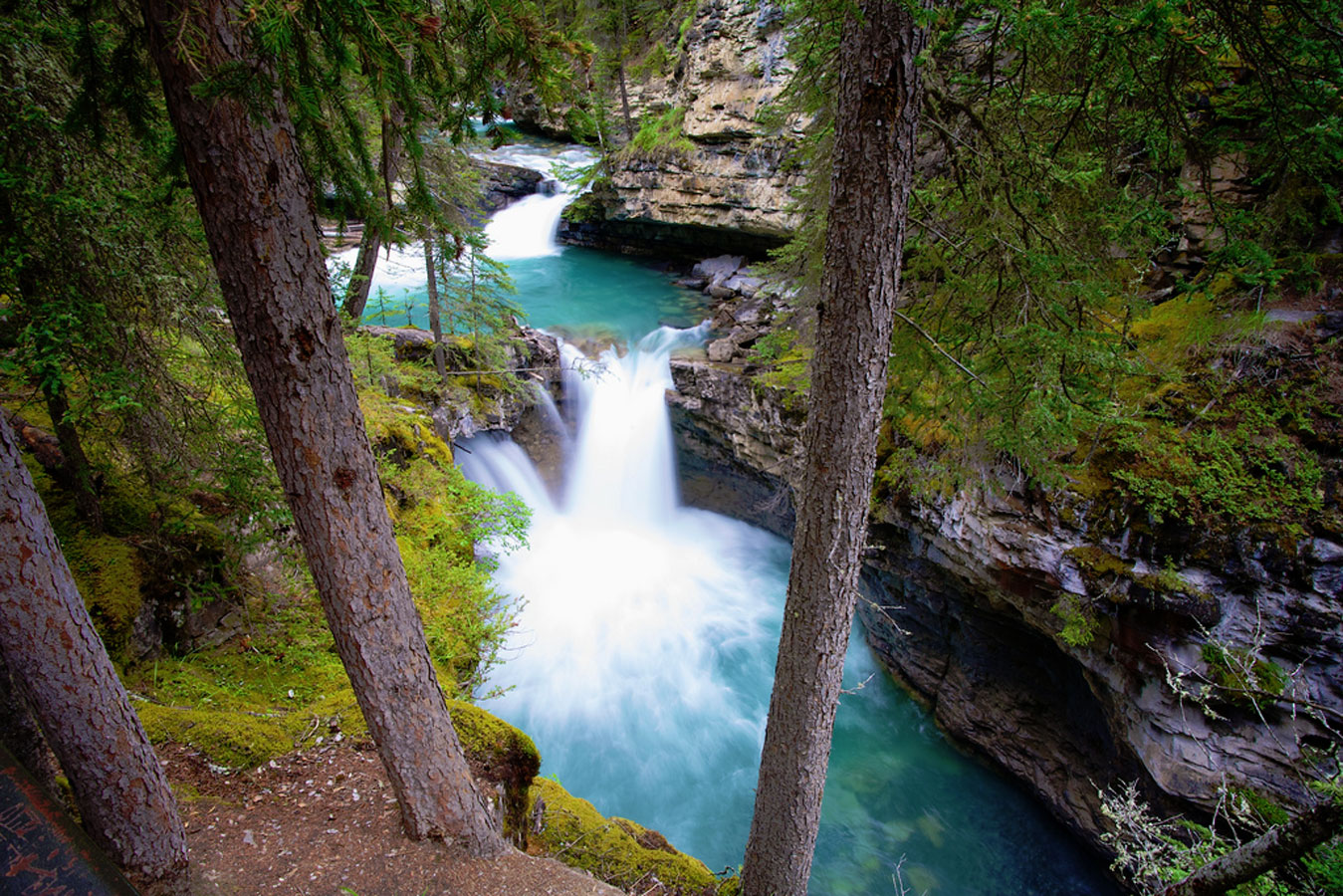 Beach Fall Wallpaper Johnston Canyon Canada Ancient Origins