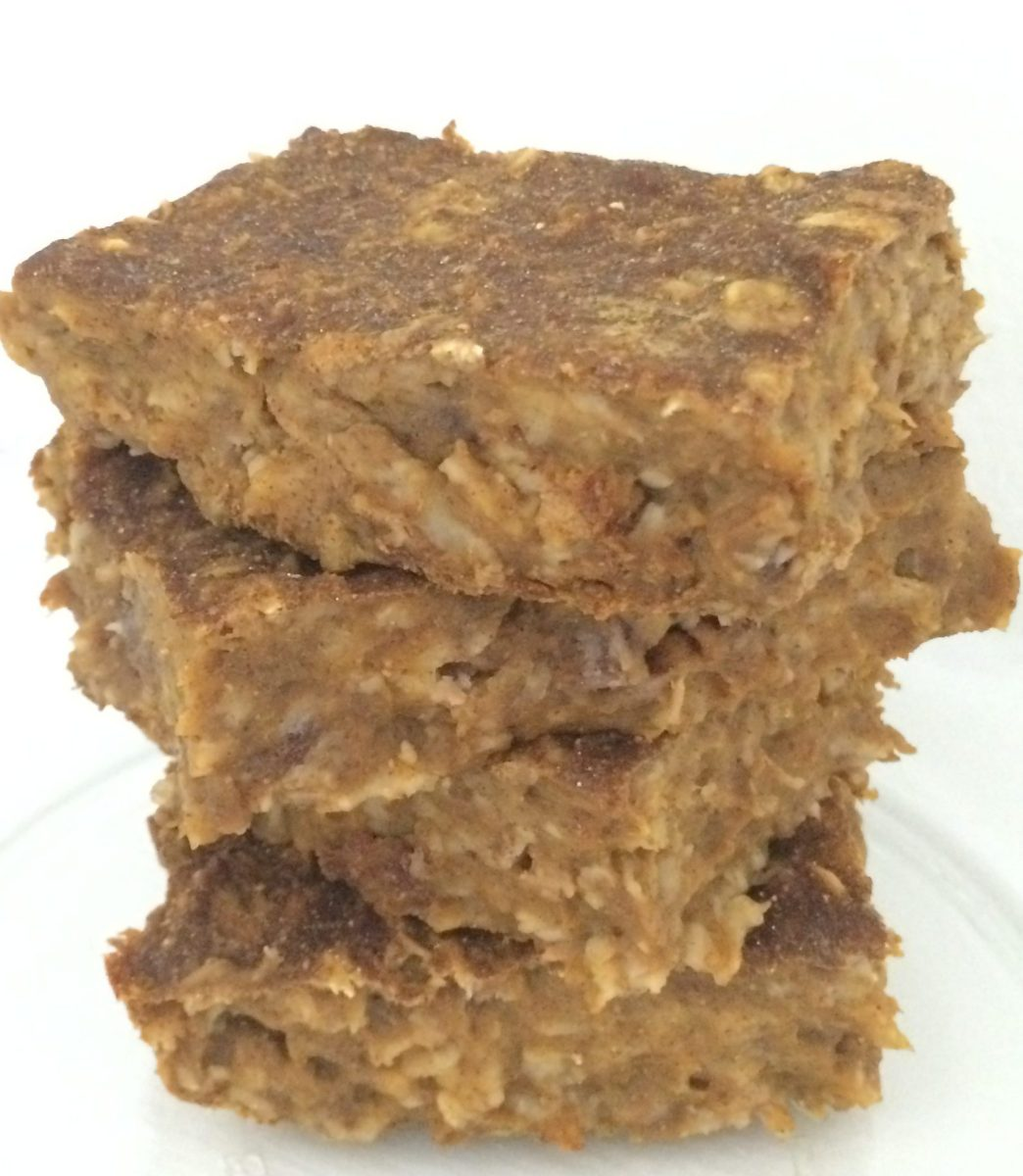 Pumpkin Pie Oatmeal Protein Bars [Clean, Vegan, Gluten-Free]