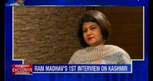 Exclusive interview with Ram Madhav on Kashmir