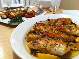 Lemon herb baked chicken 3 300x224 Baked Herb Lemon Chicken