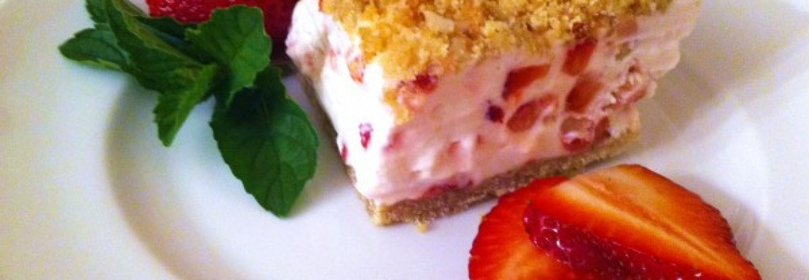 Plated Frozen Strawberry bar