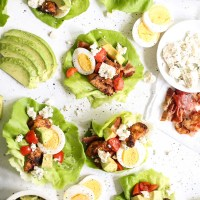 Chicken Cobb Lettuce Wraps