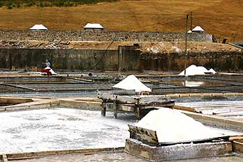 Imaginea unei exploatari de sare
