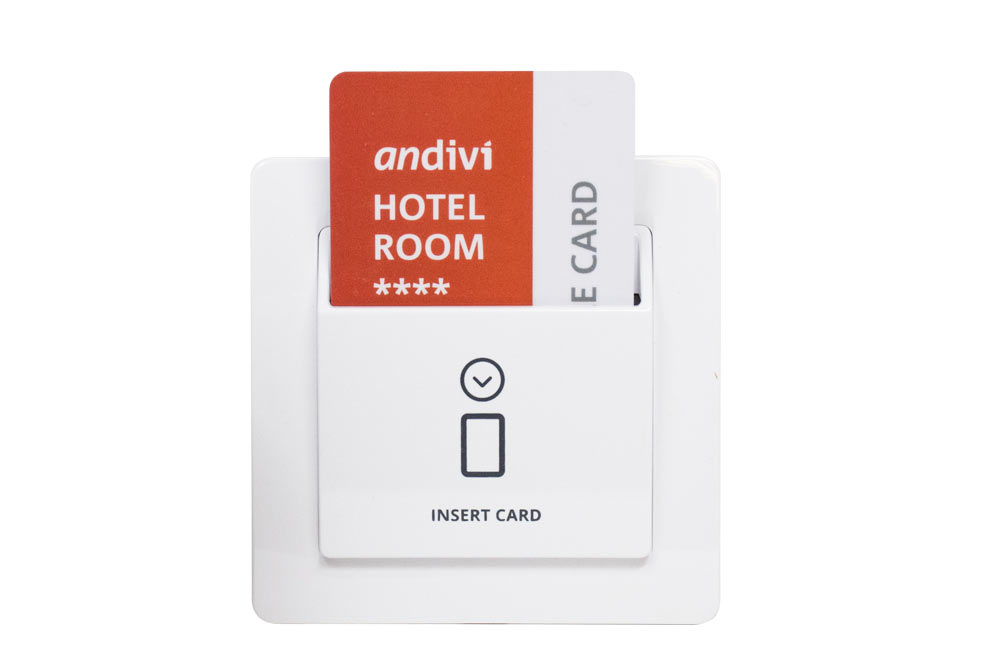 Energy saving switch, Card holder for Hotels - Company Andivi