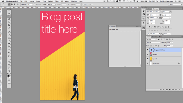how to create a blog header in photoshop