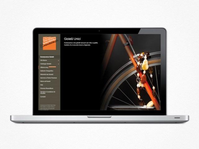 Realizzazione sito web Evanescence Gioielli