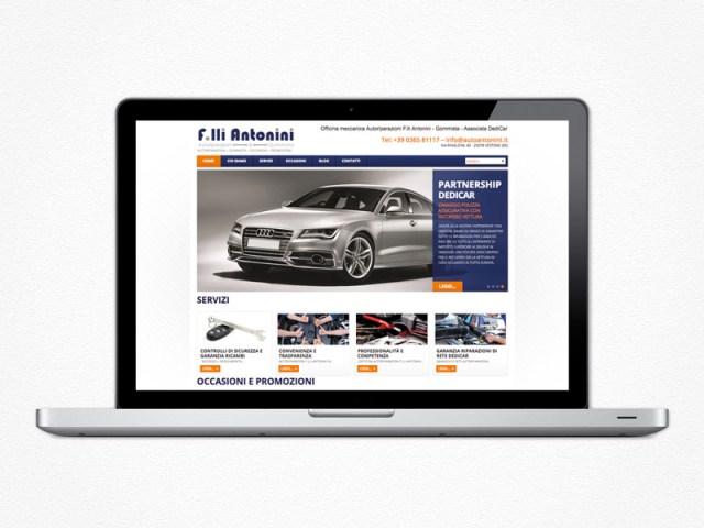 Realizzazione sito web Auto Antonini